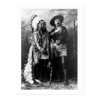 Carte Postale Séance Taureau en chef et cru 1895 de Buffalo Bill