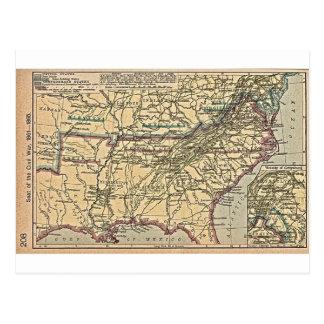 Carte Postale Seat de guerre civile, 1861 - 1865