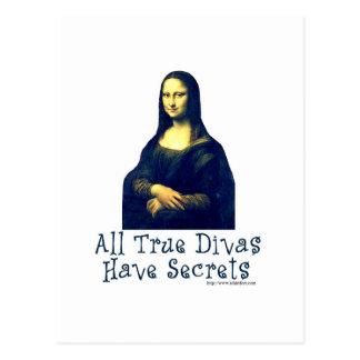 Carte Postale Secrets de diva de Mona Lisa