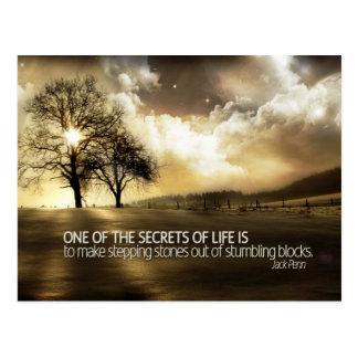 Carte Postale Secrets de la vie