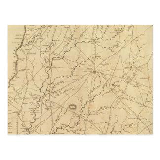 Carte Postale Secteur d'Abbeville, la Caroline du Sud
