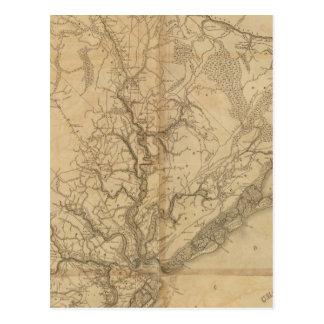 Carte Postale Secteur de Charleston, la Caroline du Sud