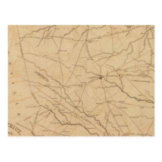 Carte Postale Secteur de Laurens, la Caroline du Sud