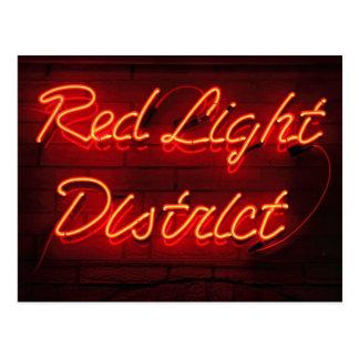 Carte Postale Secteur de lumière rouge