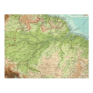 Carte Postale Section du nord de l'Amérique du Sud