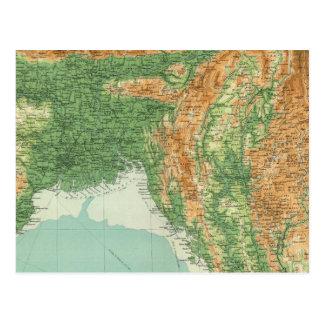 Carte Postale Section du nord-est de l'Inde