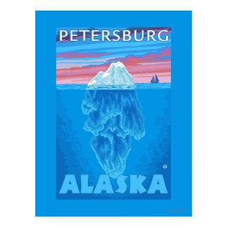 Carte Postale Section transversale d'iceberg - Pétersbourg,