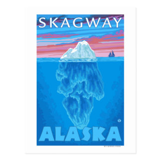 Carte Postale Section transversale d'iceberg - Skagway, Alaska