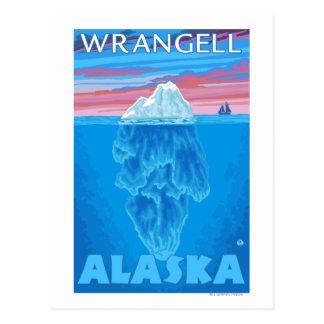 Carte Postale Section transversale d'iceberg - Wrangell, Alaska