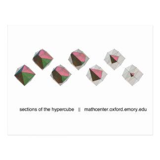 Carte Postale Sections du Hypercube