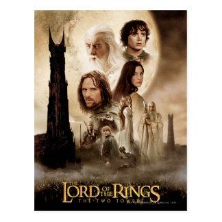 Carte Postale Seigneur des anneaux : L'affiche de film de deux
