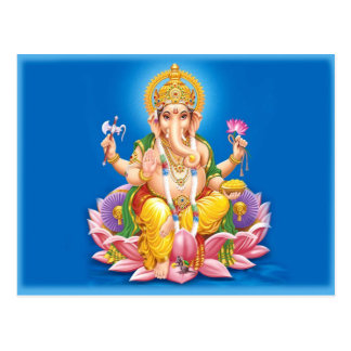 Carte Postale Seigneur Ganesha Postcard