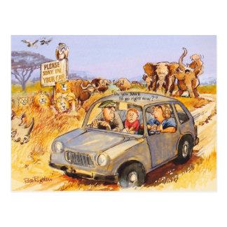 Carte Postale Séjour dans votre voiture !