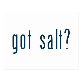 Carte Postale sel obtenu