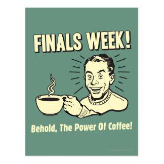 Carte Postale Semaine de finales : Voyez le café de puissance