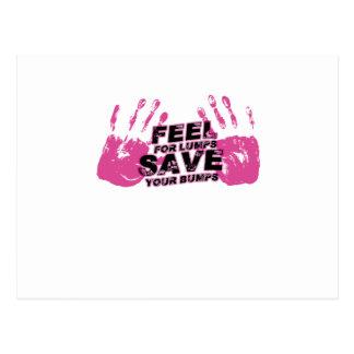 Carte Postale Sensation de conscience de cancer du sein pour des