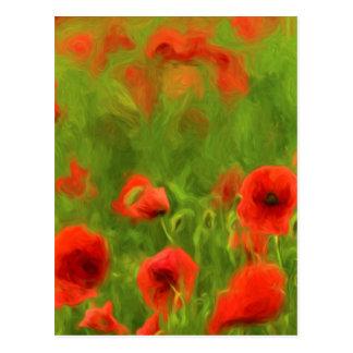 Carte Postale Sentiments d'été - le pavot merveilleux fleurit II