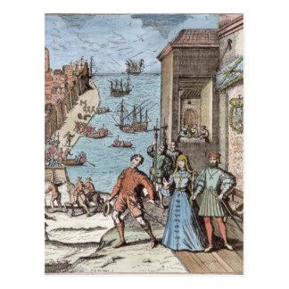Carte Postale Séparation de Columbus avec Ferdinand et