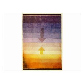 Carte Postale Séparation le soir par Paul Klee