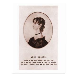 Carte Postale Sépia de portrait d'Anne Brontë