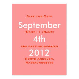 Carte Postale Septembre 2011, les 4èmes, font gagner la date, RO