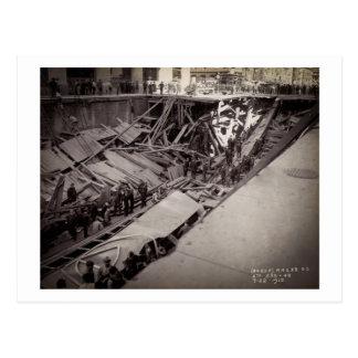Carte Postale Septième effondrement New York City 1915 de rue