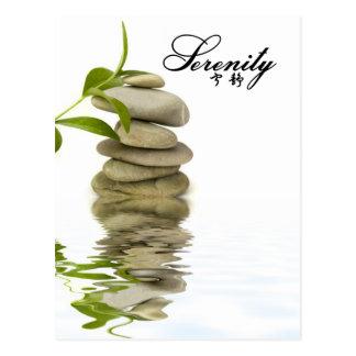 Carte Postale Sérénité - roches de zen avec le bambou