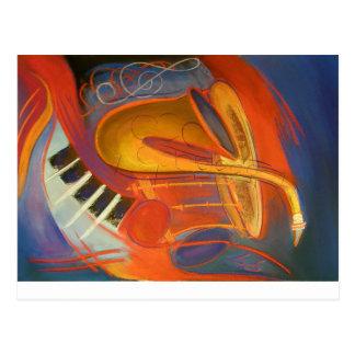 Carte postale : Série 4 de musique
