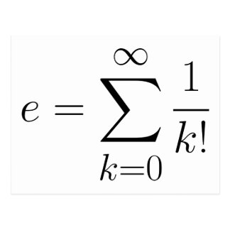 Carte Postale Série du nombre d'Euler