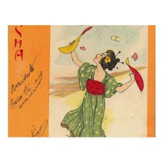 Carte Postale Série japonaise d'illustration/geisha