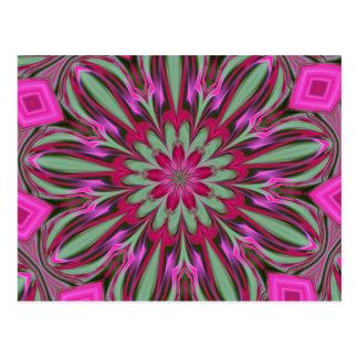Carte Postale Série rose de kaléidoscope de Phlox