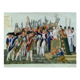 Carte Postale Serment des secteurs, février 1790