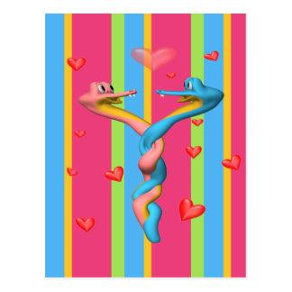 Carte Postale Serpents dans l'amour