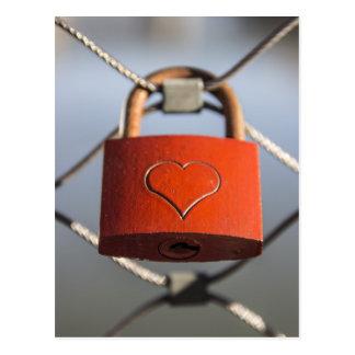 Carte Postale Serrure d'amour