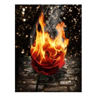 Carte Postale S'est levée sur le feu, la combustion s'est levée