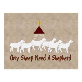 Carte Postale Seulement les moutons ont besoin de berger