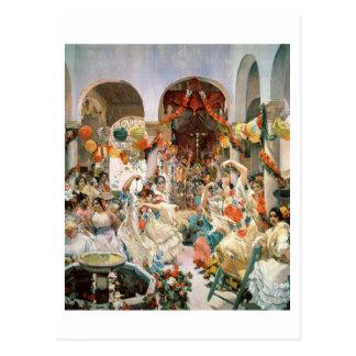 Carte Postale Séville (huile sur la toile)