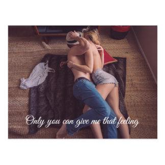 Carte postale sexy | de couples personnalisable