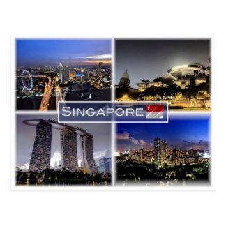 Carte Postale SG Singapour -
