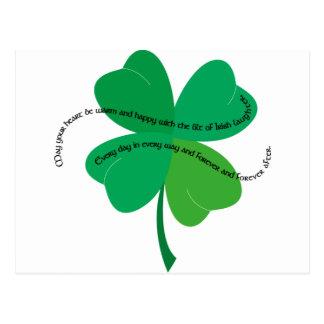 Carte Postale Shamrock avec du pain grillé irlandais