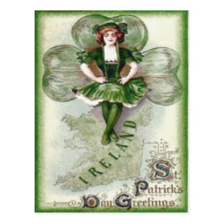 Carte Postale Shamrock irlandais Riverdance de l'Irlande de