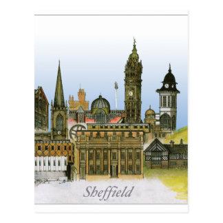 Carte Postale Sheffield - Yorkshire du sud, fernandes élégants