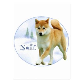 Carte Postale Shiba Noel
