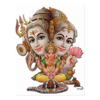 Carte Postale Shiva et famille