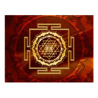 Carte Postale Shri Yantra - conducteur cosmique d'énergie