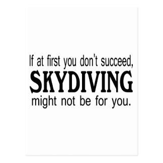 Carte Postale Si d'abord vous ne réussissez pas le parachutisme