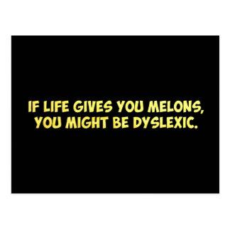 Carte Postale Si la vie vous donne des melons, vous pourriez