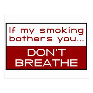 Carte Postale Si mon tabagisme tracasse vous… ne respirez pas