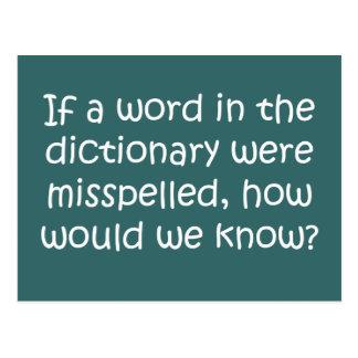 Carte Postale Si un mot dans le dictionnaire était mal épelé
