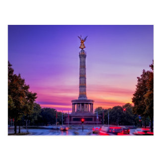 Carte Postale Siegessäule, colonne de victoire de Berlin